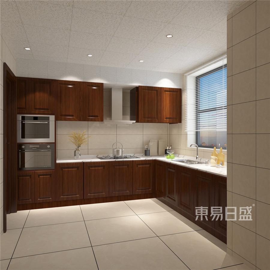 196平南益名士华庭新中式风格厨房装修效果图