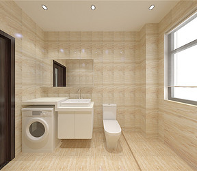 融创中心新中式风格卫生间装修效果图