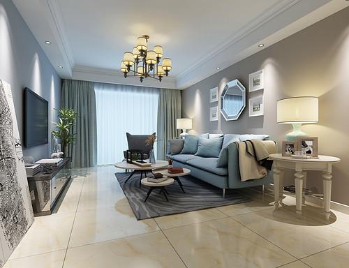华地润园-105平米三居室-现代简约风格装修效果图
