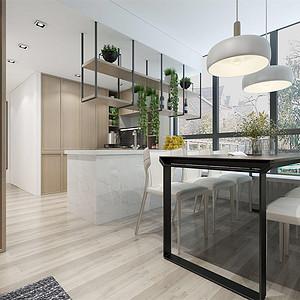 成贤公寓145m²现代风格装修餐厅