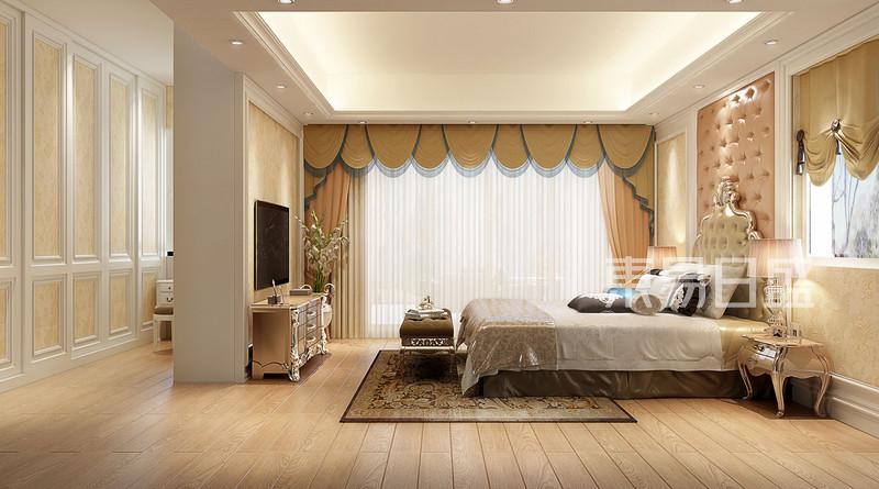 卧室欧式装修效果图效果图_装修效果图大全2018图片