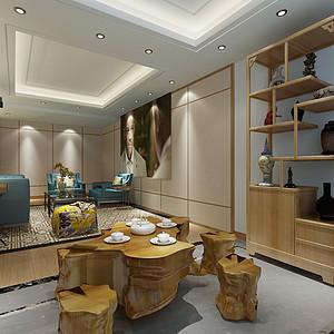 锦绣山河观园330㎡新中式风格五房二厅-装修效果图