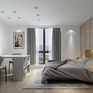 成贤公寓145m²现代风格装修卧室
