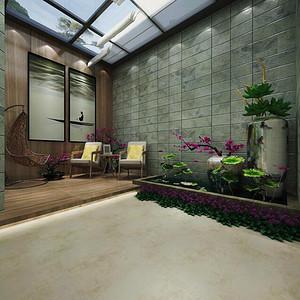 现代装修风格庭院效果图