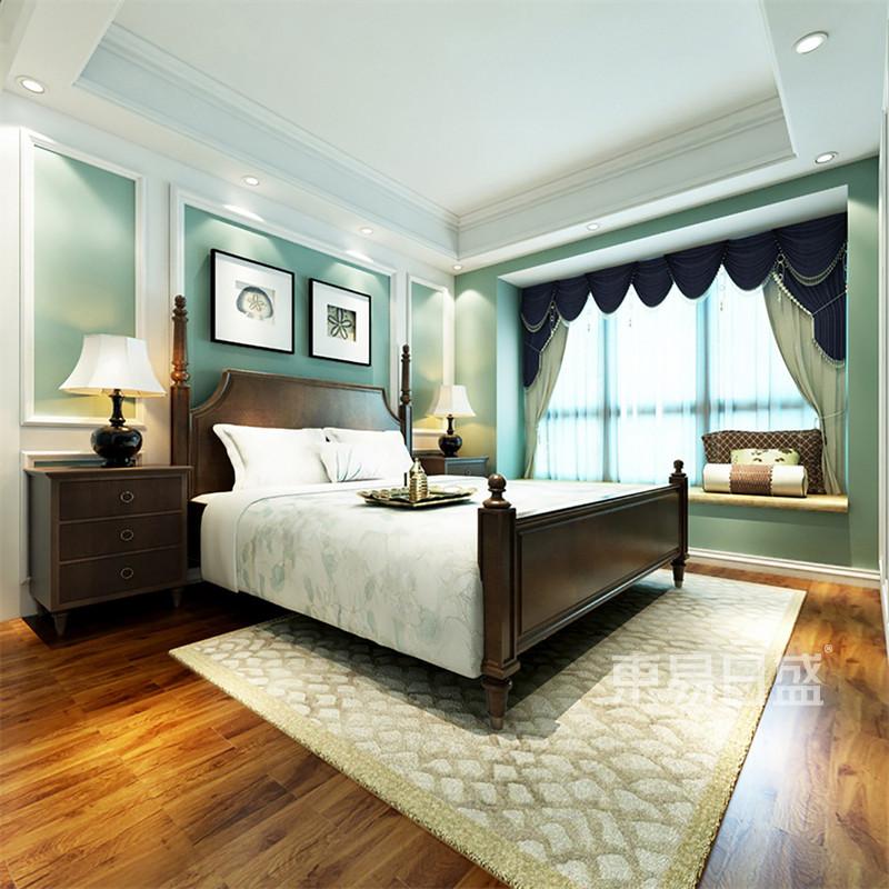 欧式古典 - 卧室欧式家具及壁纸护墙板的结合复活了