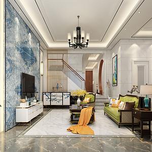 御江南210㎡新中式四室两厅三卫装修实景图