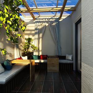 现代简约阳台装修效果图 别墅装饰设