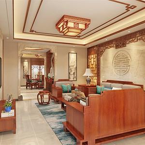 中式-客厅