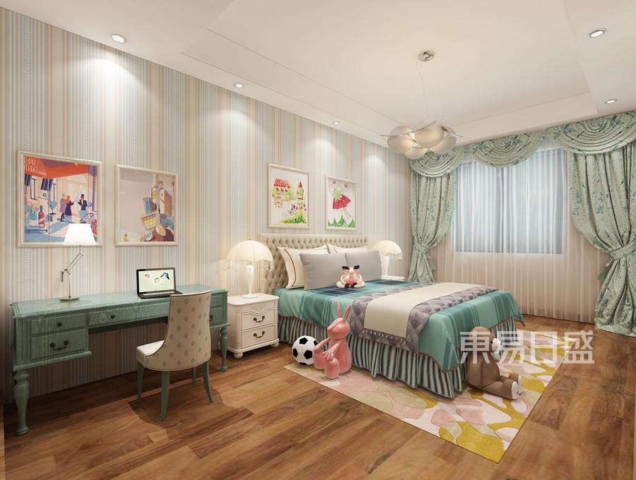 保利西山林语现代轻奢风格儿童房装修案例效果图