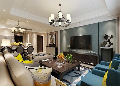 保利海上五月花--简美风格--213平四居室