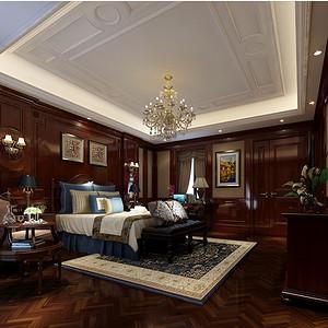 钱塘帝景180平美式新古典设计装修效果图