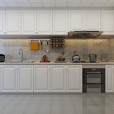 城南逸居简欧130平米厨房装修效果图