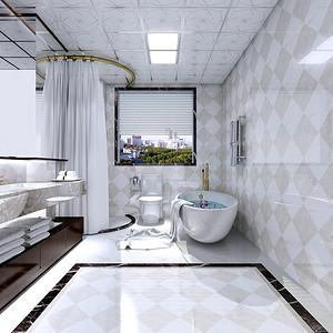 鑫源公寓220平新古典风格错层卫生间