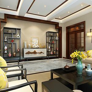 西山御园 别墅 新中式风格装修案例