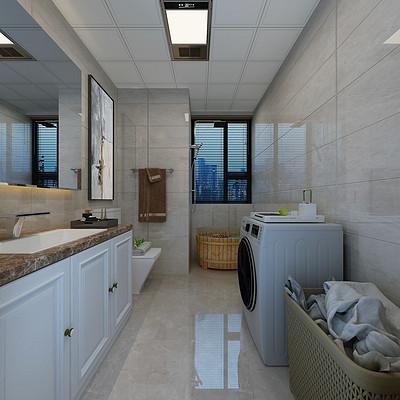 城南逸居130平米简欧卫生间装修效果图