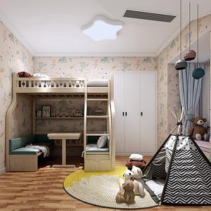 鑫源公寓220平新古典风格错层儿童房