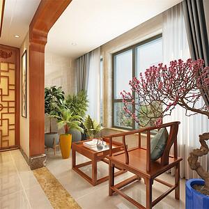 中式-阳台