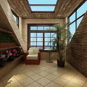 半岛豪庭美式风格露台装修效果图