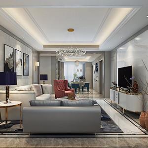 客厅从沙发背景墙装饰到软装的搭配
