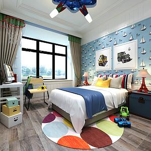 中式风格-儿童房-装修效果图