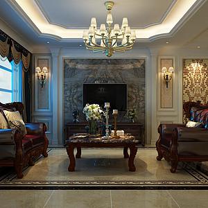 国宾壹号-三室一厅-欧式风格装修案例