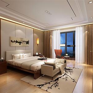 芳堤花园台式风格卧室装修效果图