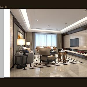 熙龙湾-简欧风格-客厅装修效果图