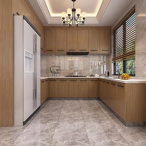 黄江湖山大境别墅新中式厨房装修效果图