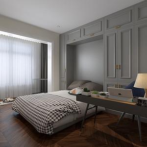 美式轻奢风格卧室装修效果图