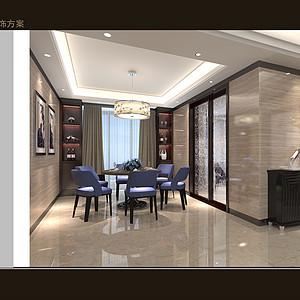 熙龙湾-简欧风格-餐厅装修效果图