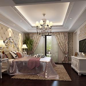 东方福邸欧式古典风格卧室效果图