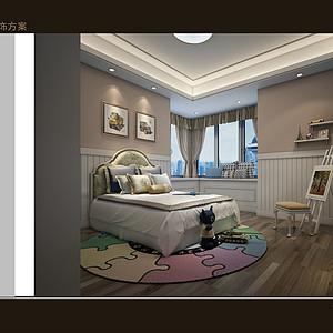 熙龙湾-简欧风格-卧室装修效果图