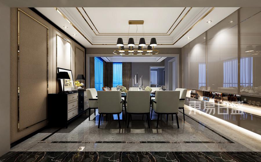 星河国际港式风格餐厅装修效果图