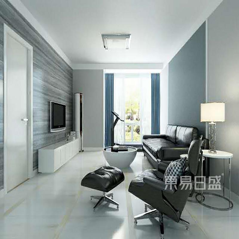 首页 室内装修效果图 > 客厅空间以黑白灰相结合简单时尚