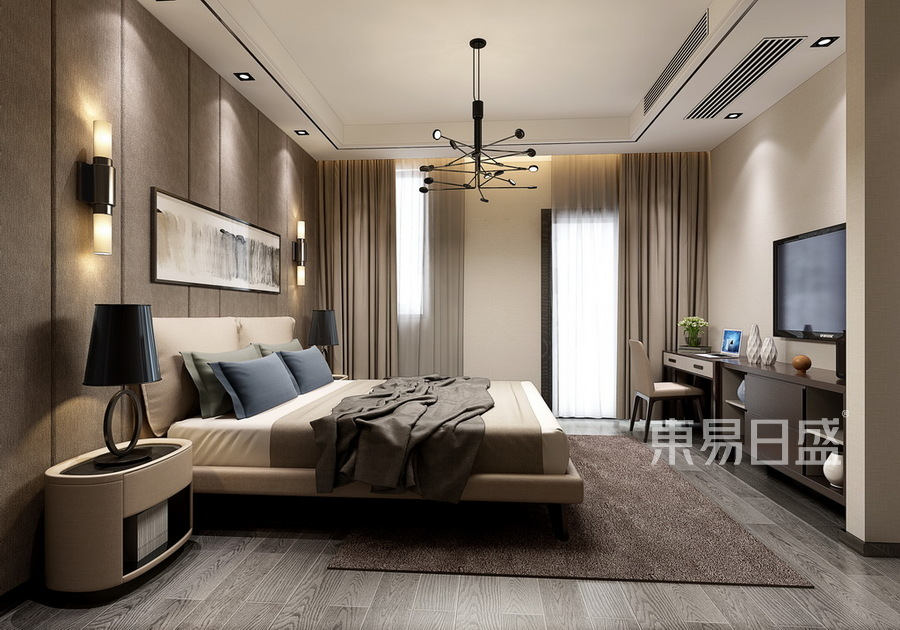 现代简约-卧室装修效果图
