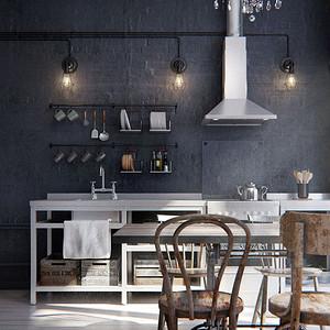 金属工业风格-厨房