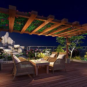 自建别墅中式风格阳台