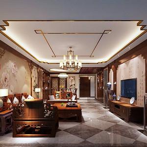 九号公馆-新中式-客厅装修效果图