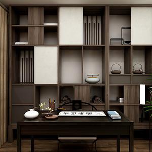 三居室-新中式-书房