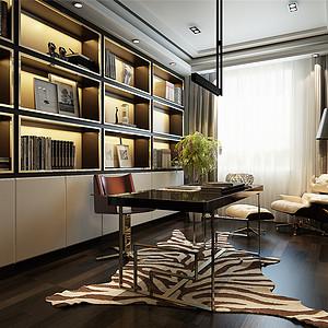 现代港式风格书房