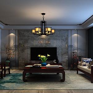 厚德福成-三室两厅-新中式风格装修案例