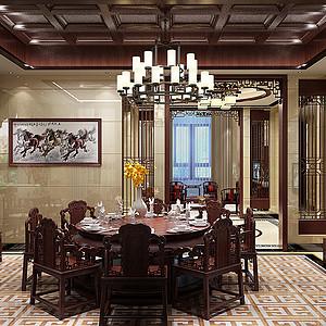 自建别墅中式风格餐厅