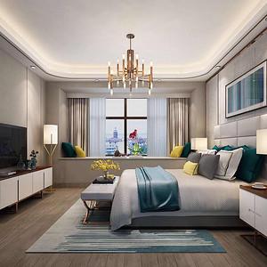 现代前卫 卧室装修效果图 五房两厅