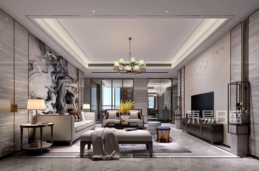 博林天瑞-普通住宅-新中式-效果图