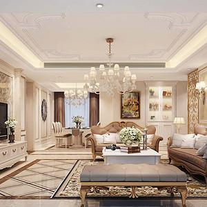 香山美墅·果岭 简欧风格装修效果图 189平米 五房两厅装饰设计