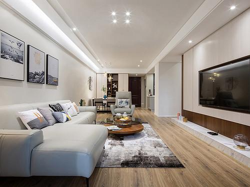 东城鼎峰尚境装饰案例 120㎡现代简约三房二厅装修效果图装修设计理念