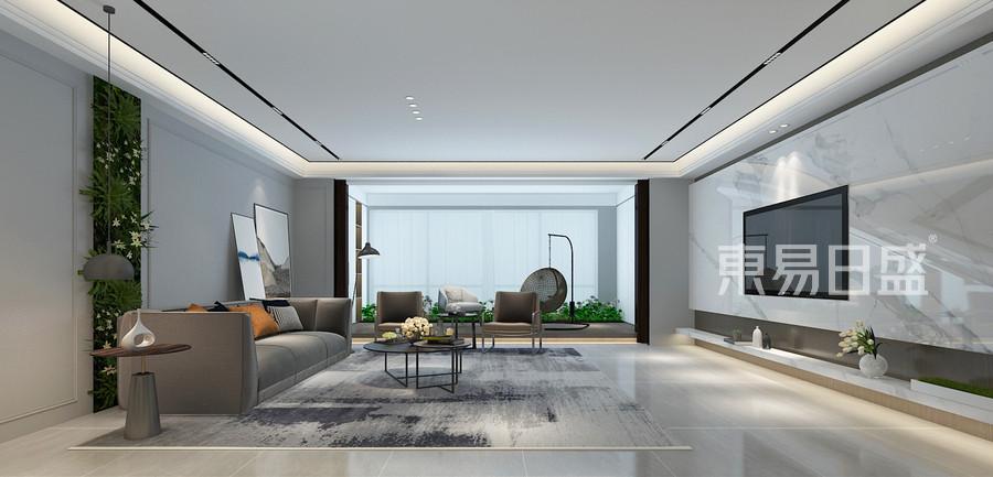 现代简约风格客厅装修设计图片
