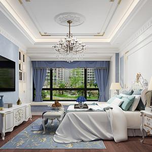 简欧风格 卧室装修效果图 五房两厅