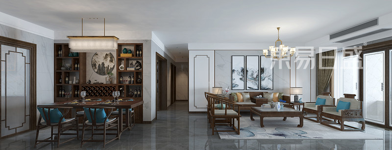 佛山新中式客厅装修设计