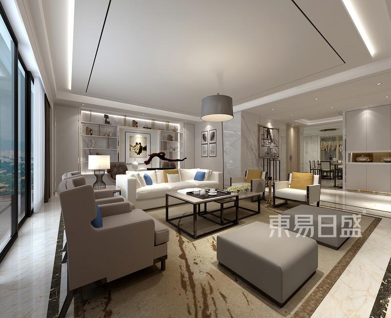 客厅装修效果图——现代简约风格图片